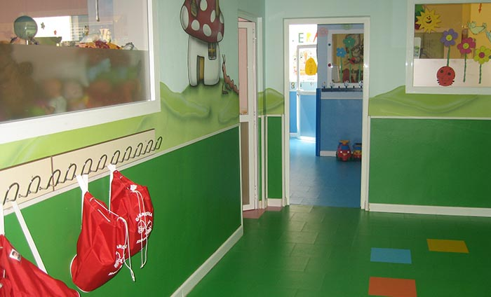 Vinyl wall covering - Kindergarten PVC flooring - Rainbow