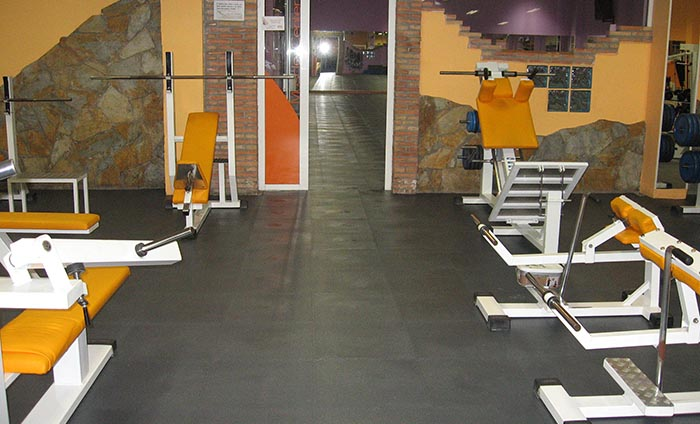 Gym flooring - PVC tiles for gyms - Traficline