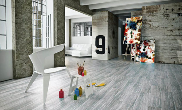 Wood finish flooring - Vinyl tiles - Elegance
