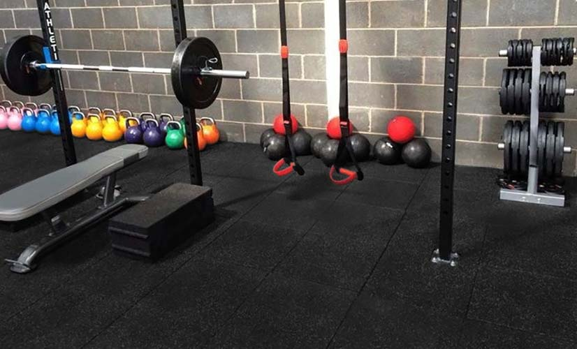 Crossfit - Rubber tile gym flooring - Energy Cf