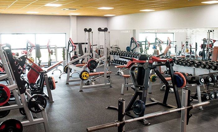 Weight room flooring---Rubber flooring in tiles---Energy