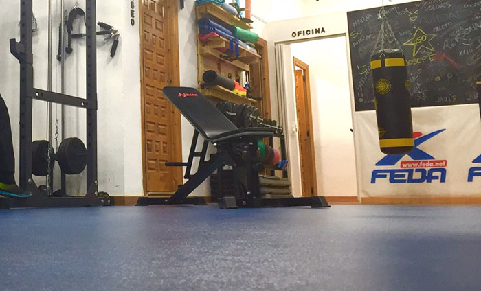 Weight rooms flooring-Vinyl floorings-Sportex